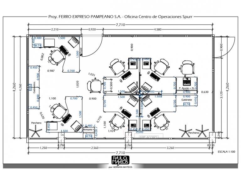 Ferro Expreso Pampeano S.A. – Centro de Operaciones – atn. Ing. Daniel Sabena